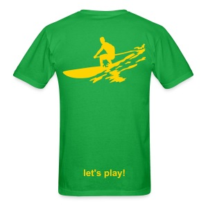 Let's Play! SUP Men's Lightweight T - lime/lemon - Men's T-Shirt
