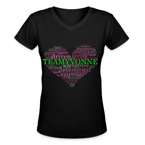 Heart of Love  - Women's V-Neck T-Shirt