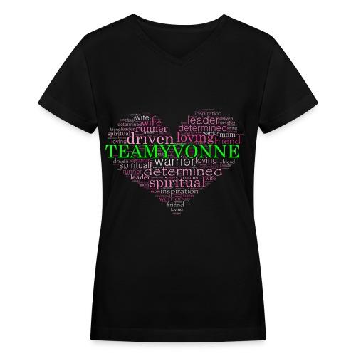 Heart of Love  - Women's V-Neck T-Shirt