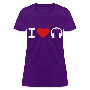 I Heart Music for Women - Women's T-Shirt
