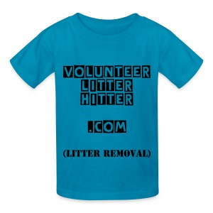 Kids' VOLUNTEER LITTER HITTER.COM (Litter Removal) T-Shirt - Kids' T-Shirt