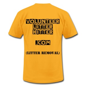 Men's VOLUNTEER LITTER HITTER.COM (Litter Removal) T-Shirt - Men's Fine Jersey T-Shirt