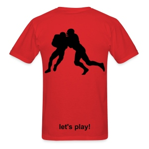 Let's Play! Men's Football - Men's T-Shirt