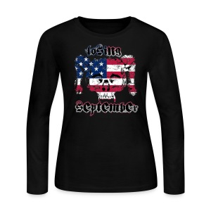American Skull - Woman's Long Sleeve - Women's Long Sleeve Jersey T-Shirt