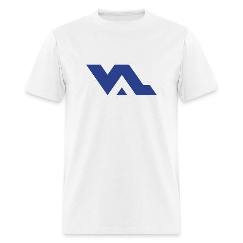 VAL logo Royal Blue on White - Men's T-Shirt