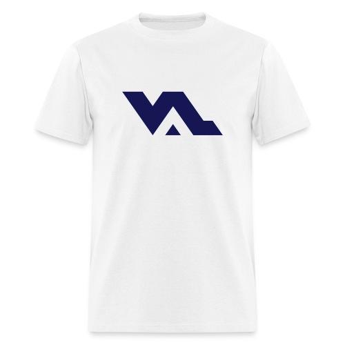 VAL logo Navy on White - Men's T-Shirt