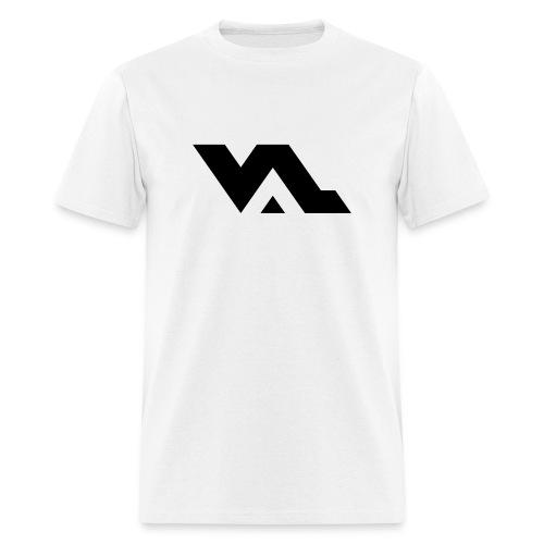 VAL logo Black on White - Men's T-Shirt