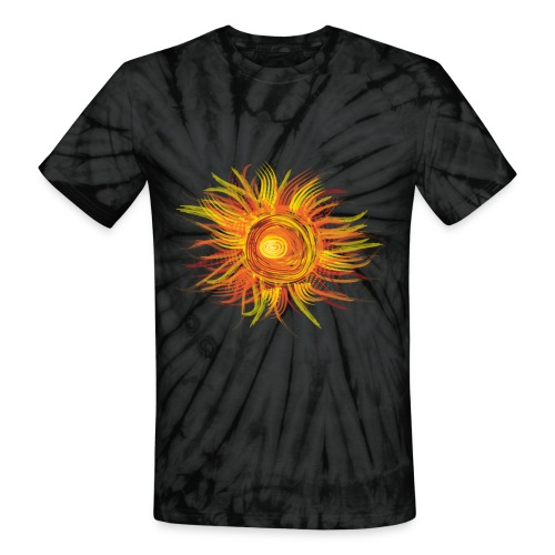 Abstract Sun - Unisex Tie Dye T-Shirt