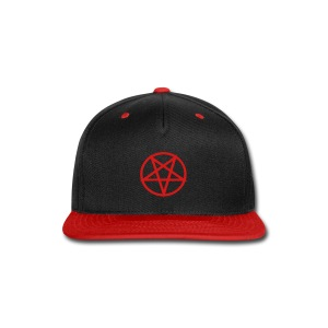 Pentagram ball cap - black/red/red - Snap-back Baseball Cap