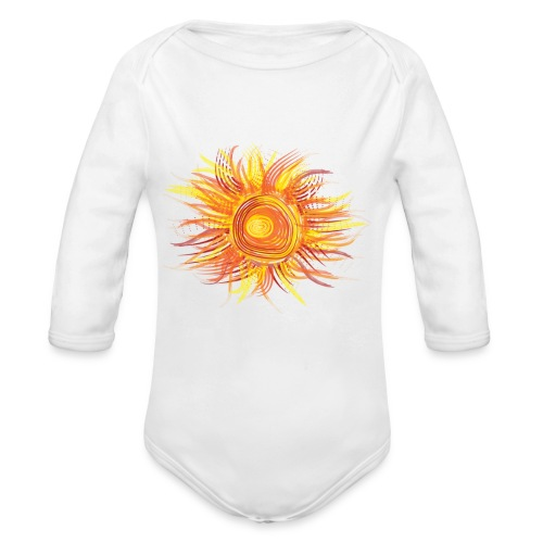 Abstract Sun - Organic Long Sleeve Baby Bodysuit