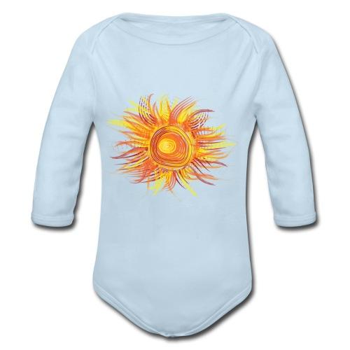 Abstract Sun - Organic Long Sleeve Baby Bodysuit