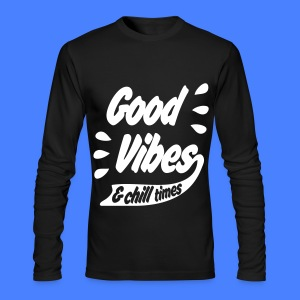 Good Vibes Long Sleeve Shirts - Men's Long Sleeve T-Shirt by Next Level