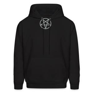Satanic grey/black hoodie - Men's Hoodie