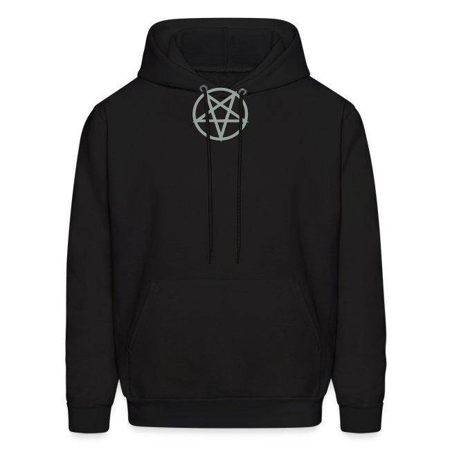 Satanic grey/black hoodie