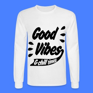 Good Vibes Long Sleeve Shirts - Men's Long Sleeve T-Shirt