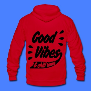 Good Vibes Zip Hoodies & Jackets - Unisex Fleece Zip Hoodie by American Apparel