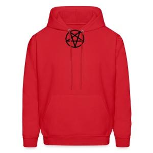Satanic red/black hoodie - Men's Hoodie