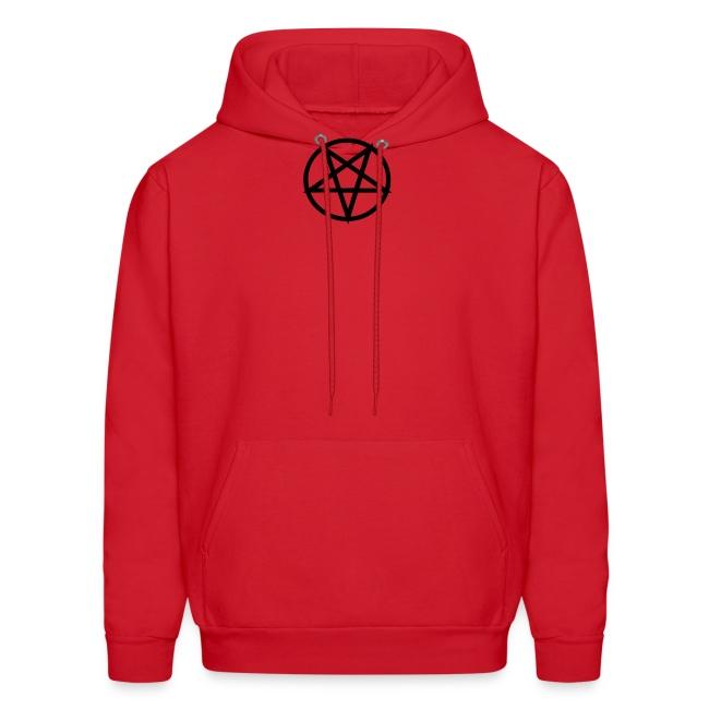 Satanic red/black hoodie