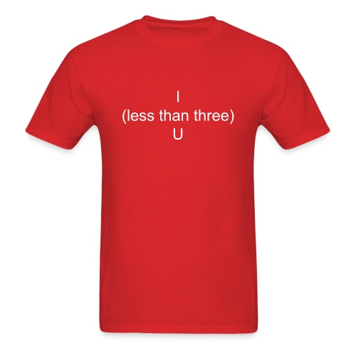 Less than three T-Shirt - Men's T-Shirt