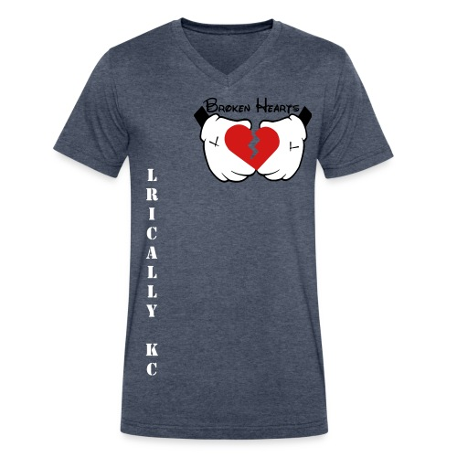 Lyrically KC Heart Broken - Men's V-Neck T-Shirt by Canvas