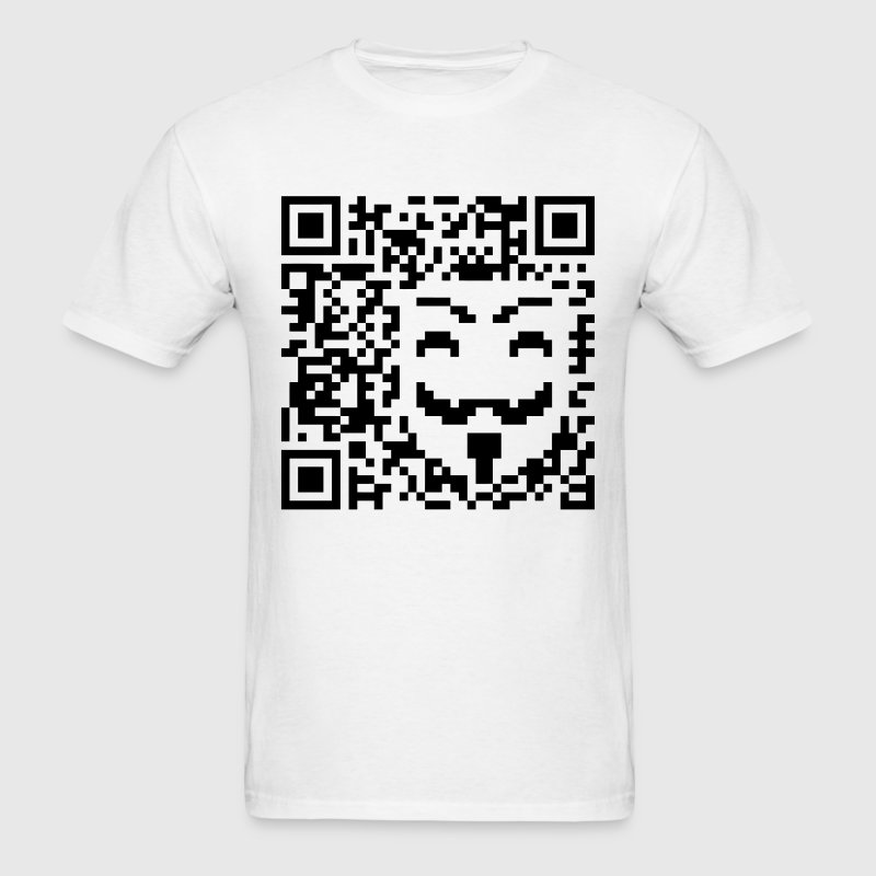 Anonymous QR Code - Men's T-Shirt
