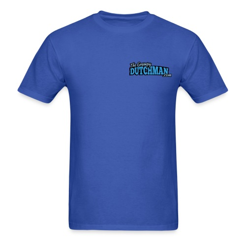 Grumpy Logo - Back (with white lines for dark shirts) - Men's T-Shirt