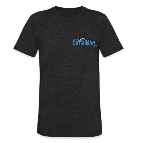 Grumpy Logo - Back (with white lines for dark shirts) - Unisex Tri-Blend T-Shirt