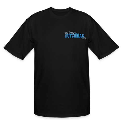Grumpy Logo - Back (with white lines for dark shirts) - Men's Tall T-Shirt