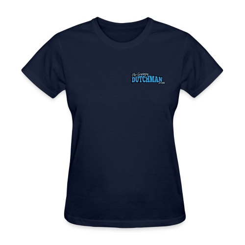 Grumpy Logo - Back (with white lines for dark shirts) - Women's T-Shirt