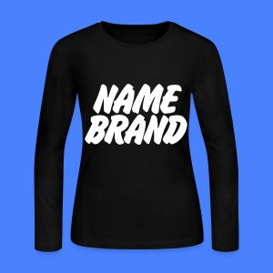 Name Brand Long Sleeve Shirts - Women's Long Sleeve Jersey T-Shirt