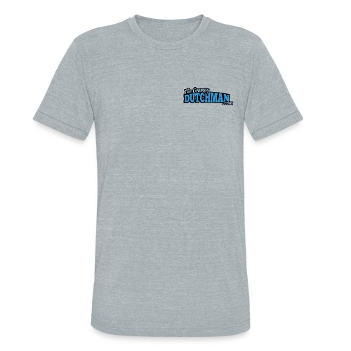 Grumpy Logo - Back (with dark lines for lighter shirts) - Unisex Tri-Blend T-Shirt