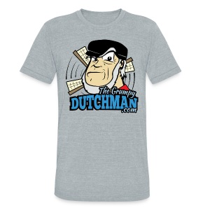 Grumpy Logo - Front (with dark lines for lighter shirts) - Unisex Tri-Blend T-Shirt