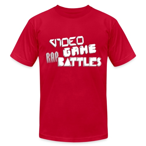 Video Game Rap Battles Men's T-Shirt by American Apparel  - Men's Fine Jersey T-Shirt
