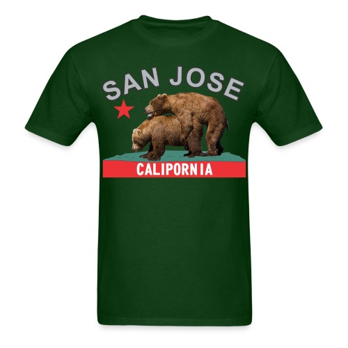 San Jose silver&black - Men's T-Shirt