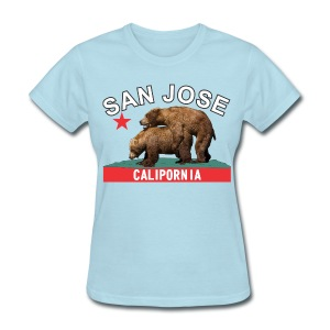 San Jose black&white f - Women's T-Shirt