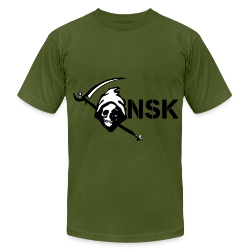 NSK DES Olive - Men's T-Shirt by American Apparel