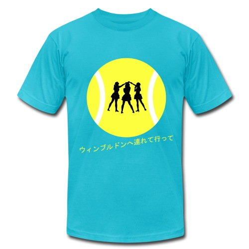 Wimbledon Turquoise - Men's T-Shirt by American Apparel