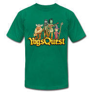 T-Shirts ~ Men's T-Shirt by American Apparel ~ Superior Mens Tee: YogsQuest Adventurers