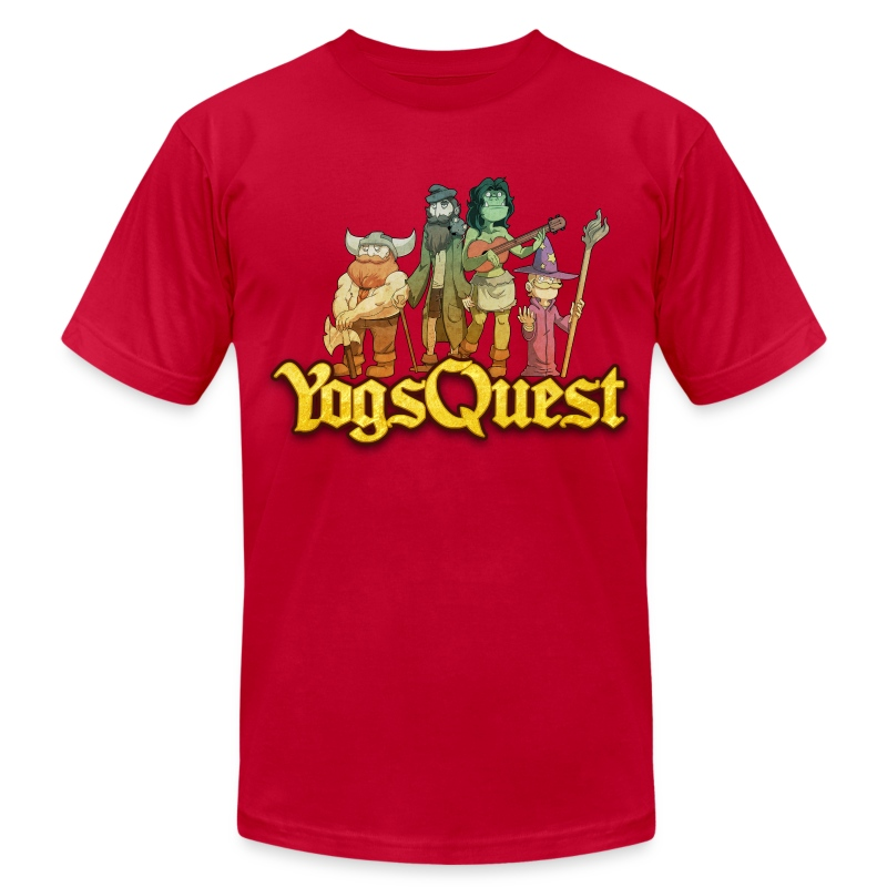Superior Mens Tee: YogsQuest Adventurers - Men's T-Shirt by American Apparel