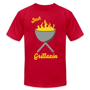 Just Grillaxin - Men's T-Shirt by American Apparel