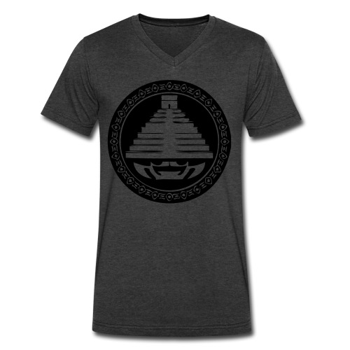 Pyramid - Men's V-Neck T-Shirt by Canvas
