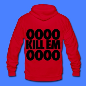 OOOO Kill Em OOOO Zip Hoodies & Jackets - Unisex Fleece Zip Hoodie by American Apparel
