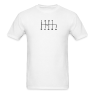 T-Shirts ~ Men's T-Shirt ~ 8-SPEED STICK WHITE
