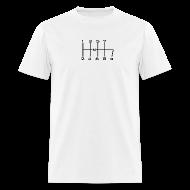 T-Shirts ~ Men's T-Shirt ~ 8-SPEED STICK WHITE