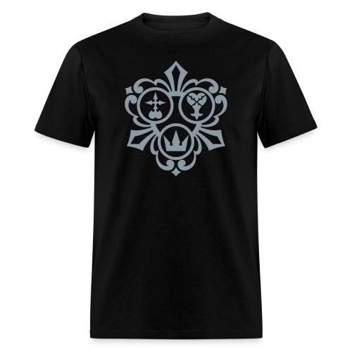 Kingdom Hearts (Metallic Silver) Men's Standard Weight T-Shirt - Men's T-Shirt