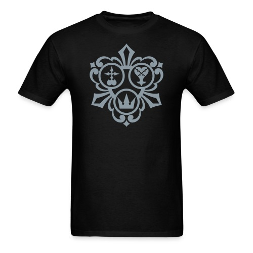 Kingdom Hearts (Metallic Silver) Men's Standard Weight T-Shirt - Men's T-Shirt