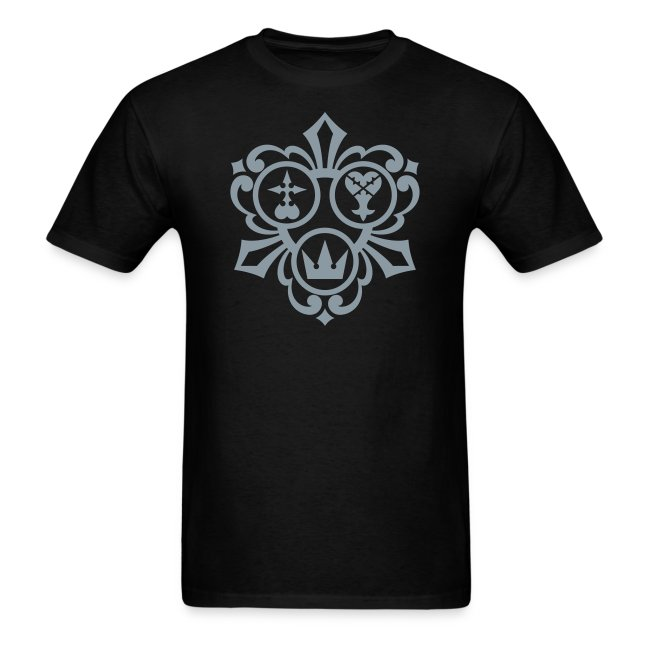 Kingdom Hearts (Metallic Silver) Men's Standard Weight T-Shirt