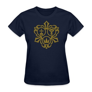 Kingdom Hearts (Metallic Gold) Women's Standard Weight T-Shirt - Women's T-Shirt
