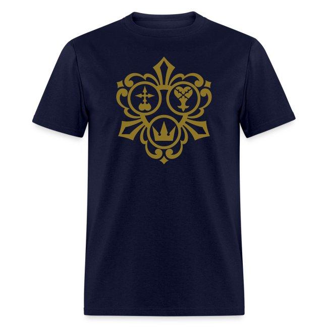 Kingdom Hearts (Metallic Gold) Men's Standard Weight T-Shirt