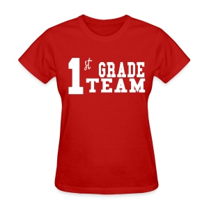 1st Grade Team-Customize Back With Name  - Women's T-Shirt